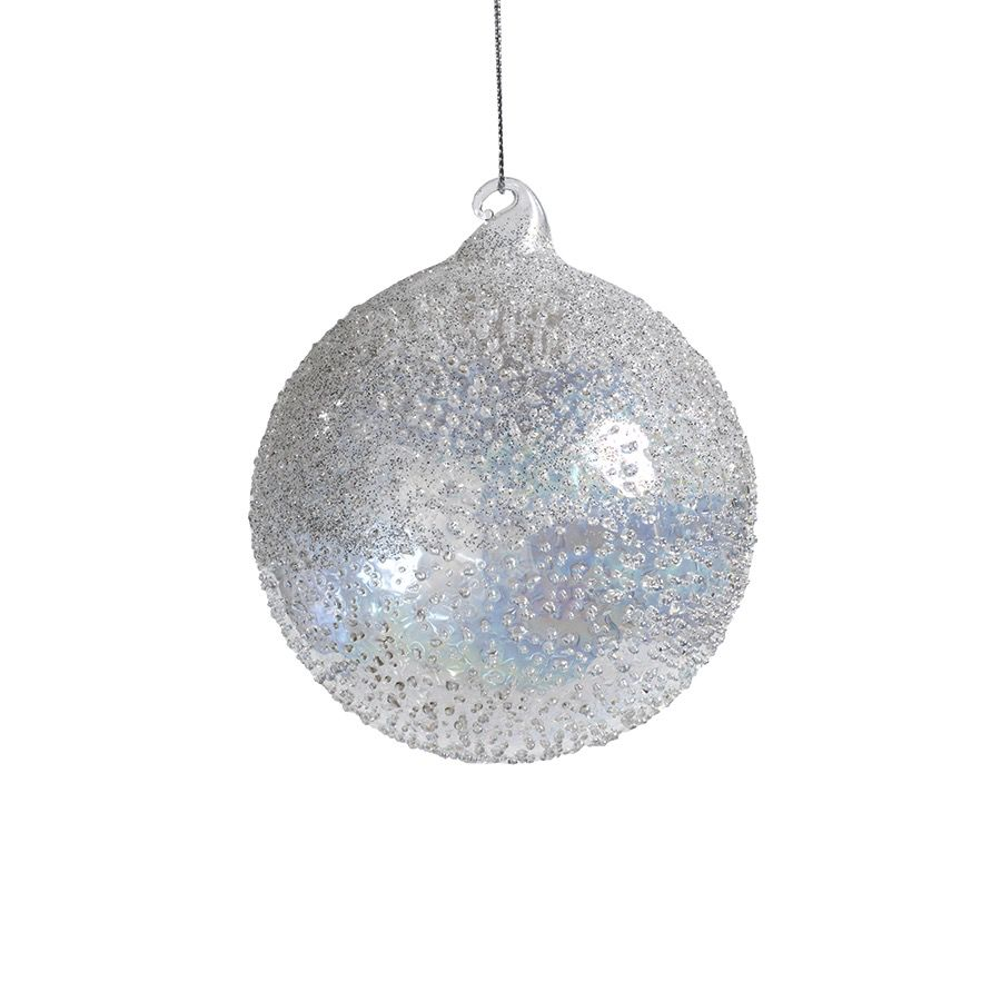 Zodax White Luster Beaded Ornament