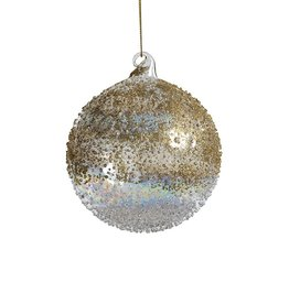 Zodax GOLD LUSTER BEADED ORNAMENT- MED