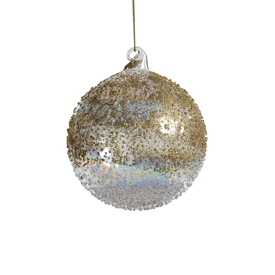 Zodax Gold Luster Beaded Ornament