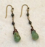 Canoe Green Teardrop & Pyrite