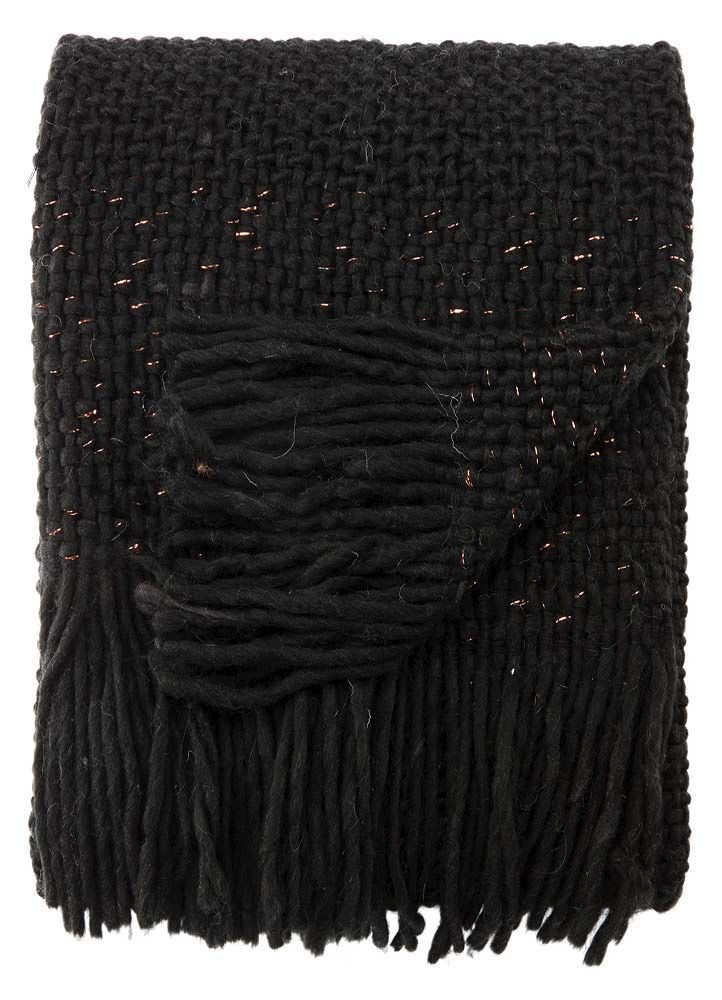 Jaipur Living Sublime Jet Black Throw 50x60