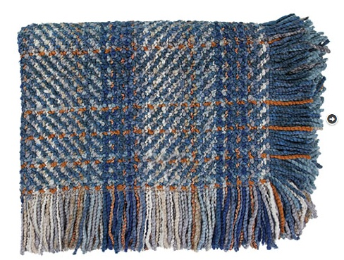 Bedford Cottage Ombre Blue Throw 45X72