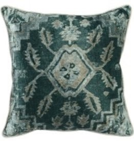 Classic Home PILLOW- VERA EMERALD MULTI- 18 X 18