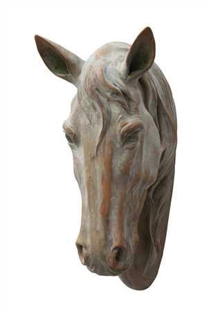 Creative Co-Op Polystone Horse Head Wall Decor