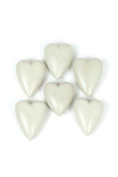 Kalalou Single Hand Carved Stone Heart-Light Grey