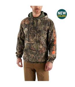 Carhartt Hooded Sweatshirt Midweight Camo Sleeve Logo 101763
