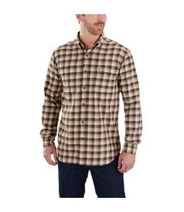 Carhartt Shirt Flannel Plaid Hamilton Rugged Flex 103314