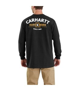 Carhartt T-Shirt Long-Sleeve Pocket Hard Work Graphic Workwear 103354