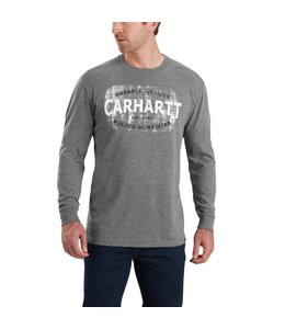 Carhartt T-Shirt Long-Sleeve Rugged Workwear Logo Graphic Maddock 103357