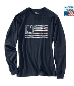 Carhartt T-Shirt Long-Sleeve Logo Flag Graphic Lubbock 103304
