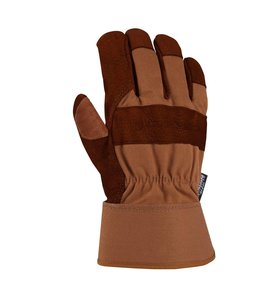 Carhartt Work Glove Safety Cuff Bison Leather Insulated A513B