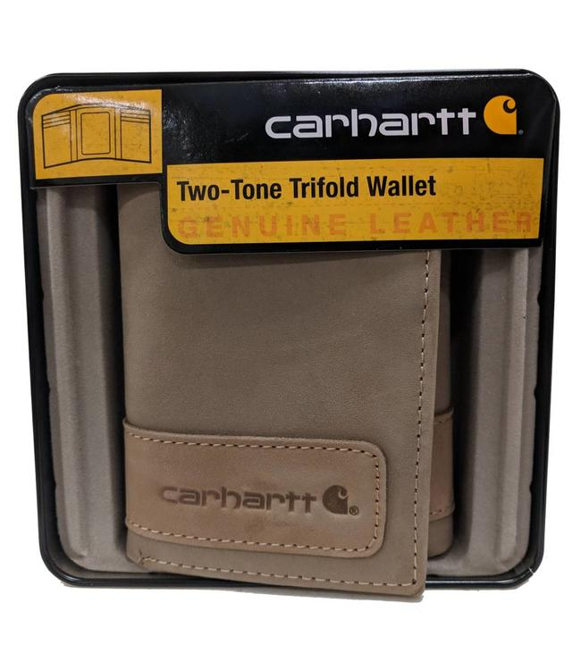 Carhartt Wallet Trifold Two-Tone with Collectible Tin 61-2205