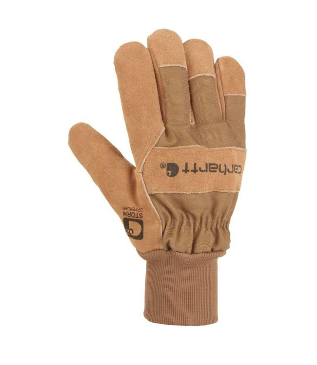 Carhartt Glove Work Knit Cuff Suede Waterproof Breathable A705