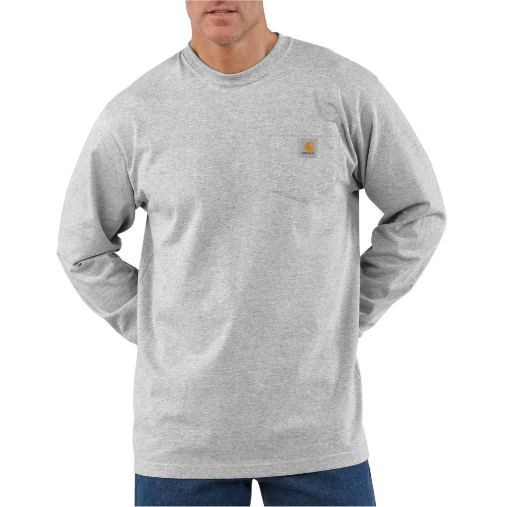 Carhartt Mens Workwear K126 Long-Sleeve Pocket T Shirt Heavyweight Jersey 4XL