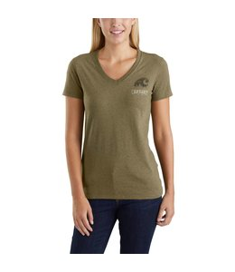 Carhartt T-Shirt V-Neck Short-Sleeve Outdoor Graphic Lockhart 103588