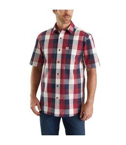 Carhartt Shirt Short Sleeve Open Collar Essential Plaid 103551