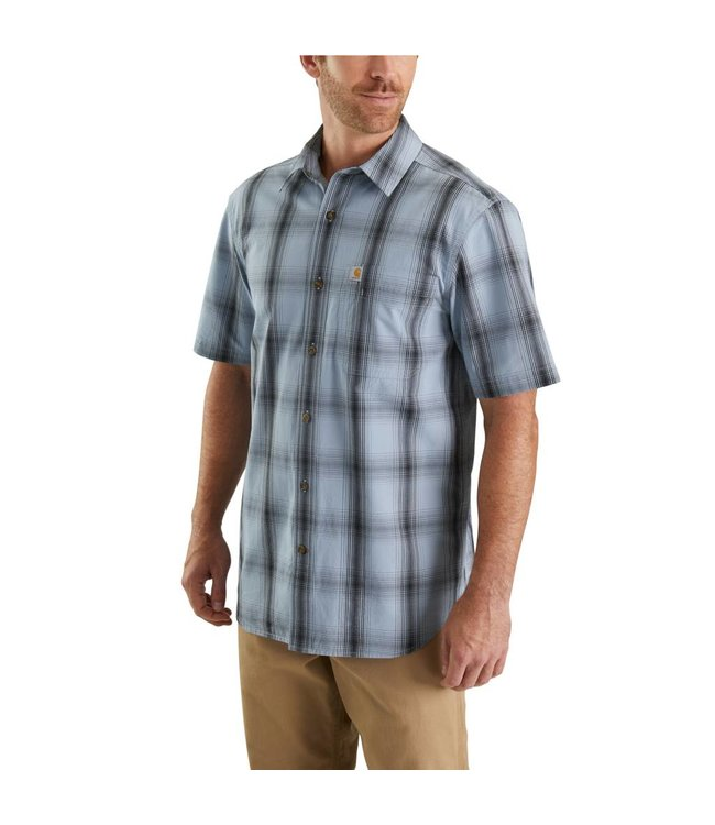Carhartt Shirt Short Sleeve Open Collar Essential Plaid 103551