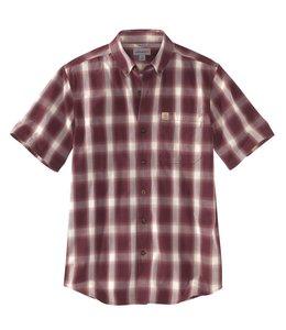 Carhartt Shirt Short Sleeve Button-Down Essential Plaid 103550