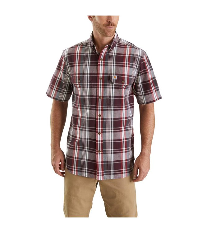 Carhartt Shirt Short Sleeve Plaid Fort 103553