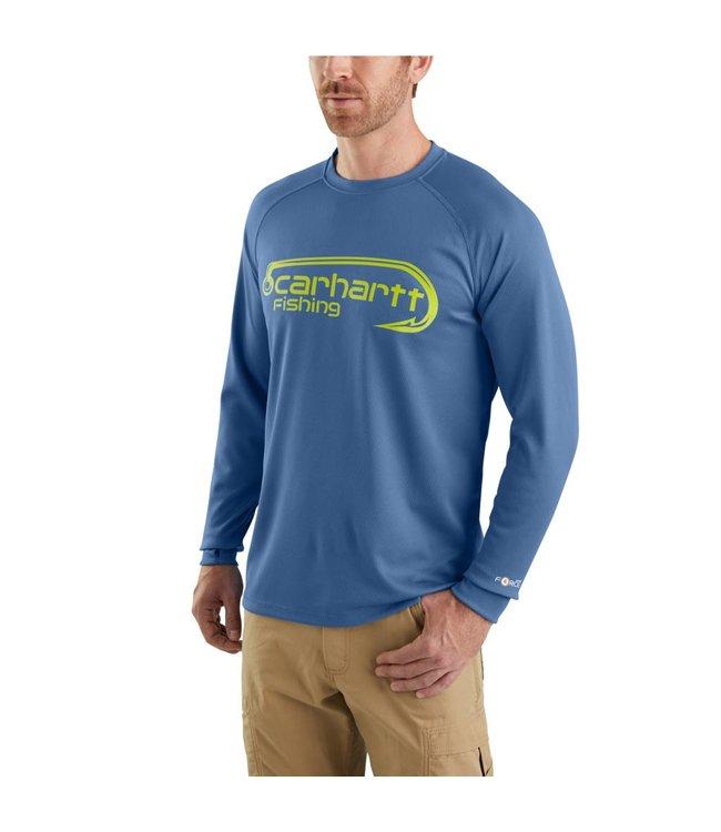 Carhartt T-Shirt Long-Sleeve Fishing Graphic Force 103571
