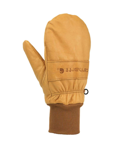 Carhartt Glove Work Knit Cuff Leather Mitten Insulated A673