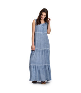 Wrangler Dress Maxi Tiered Hem Sleeveless LWD187B