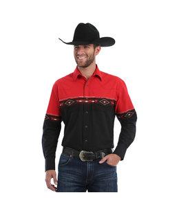 Wrangler Shirt Long Sleeve Western Dress Checotah MC1241M