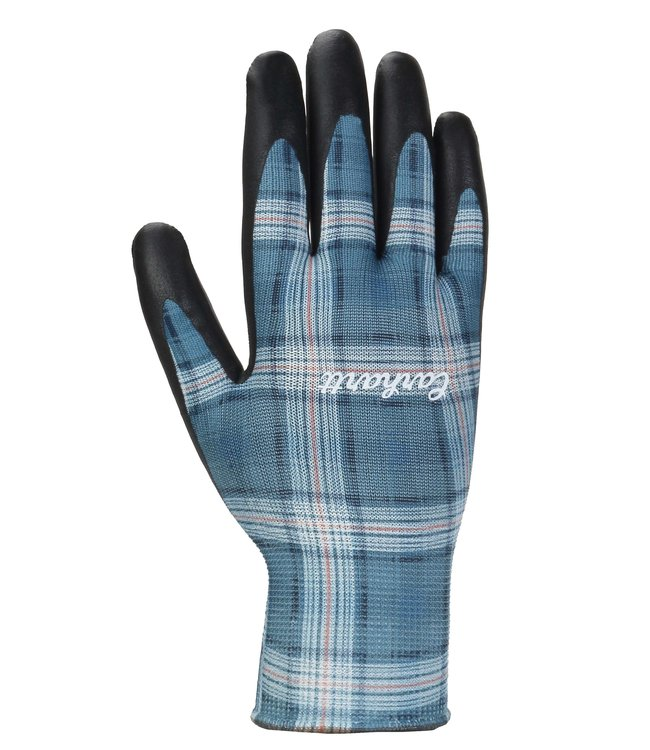 Carhartt Gloves Nitrile Dipped Plaid All Purpose WA702