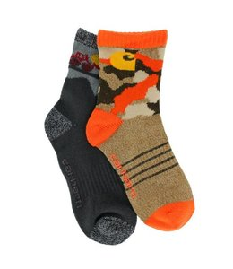 Carhartt Socks Crew With Carhartt Grippers Boys 2-Pack BA483-2