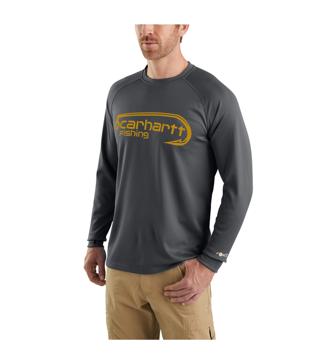 Carhartt T-Shirt Long-Sleeve Fishing Graphic Force 103571