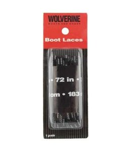 Wolverine Boot Laces Black 72 Inch W69415