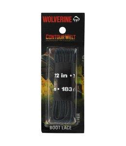 Wolverine Boot Laces Contour Welt Black 72 Inch W69643