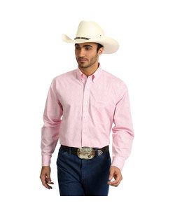 Wrangler Shirt Long Sleeve Tough Enough To Wear Pink MTP263M