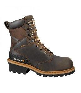 Carhartt Logger Boot Waterproof Crazy Horse 8-Inch CML8160