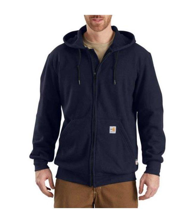 Carhartt Sweatshirt Zip Front Hooded Heavyweight Flame Resistant 102908