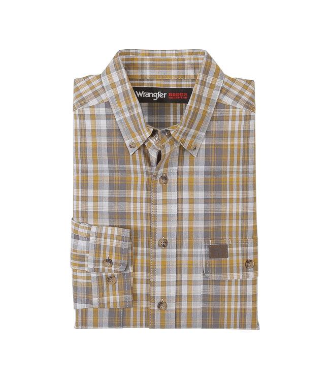 Wrangler Workshirt Plaid Foreman Riggs Workwear 3W620YG