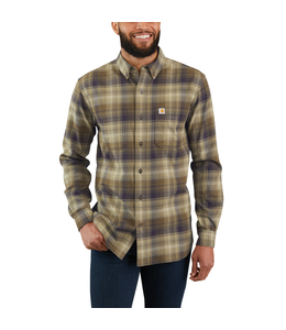 Carhartt Shirt Long Sleeve Plaid Hamilton Rugged Flex 103820