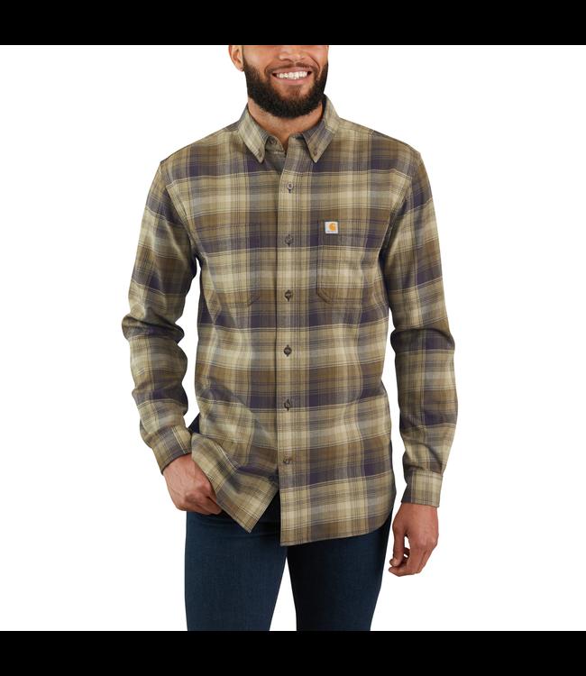 Carhartt Shirt Long Sleeve Plaid Hamilton Rugged Flex 103820