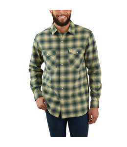 Carhartt Shirt Long Sleeve Plaid Snap-Front Hamilton Rugged Flex 103855