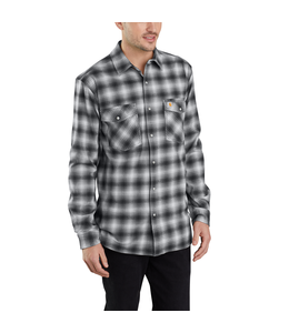 Carhartt Shirt Long Sleeve Plaid Snap-Front Hamilton Rugged Flex 103855
