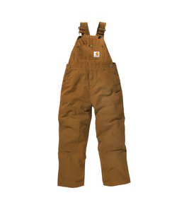 Carhartt Boy's Canvas Washed Duck Bib Overall Sizes 4-7 CM8603