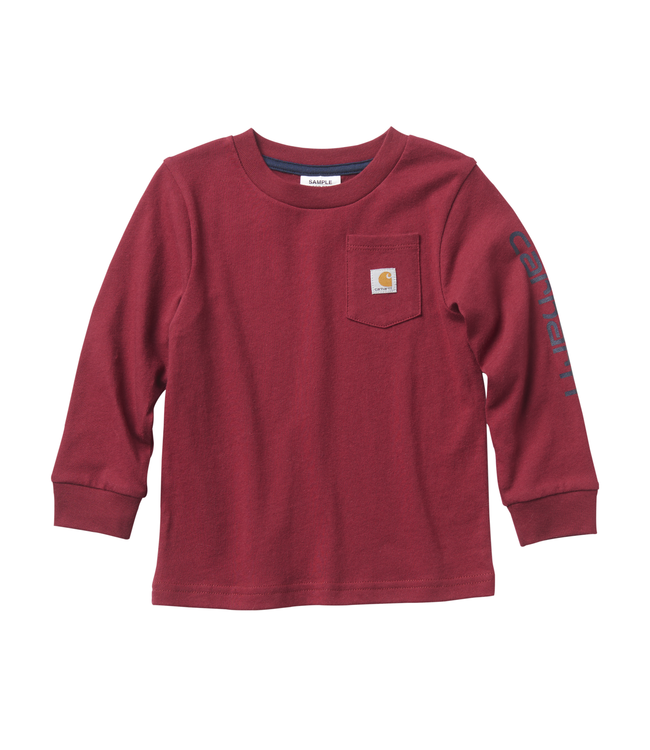 Carhartt Tee Boys Pocket Logo Long Sleeve CA6001