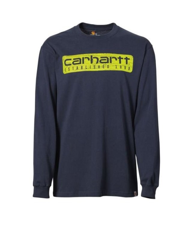 Carhartt Shirt Long Sleeve Wood Plank Graphic Workwear 103153