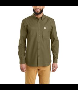 Carhartt Shirt Long Sleeve Solid Hamilton Rugged Flex 103870
