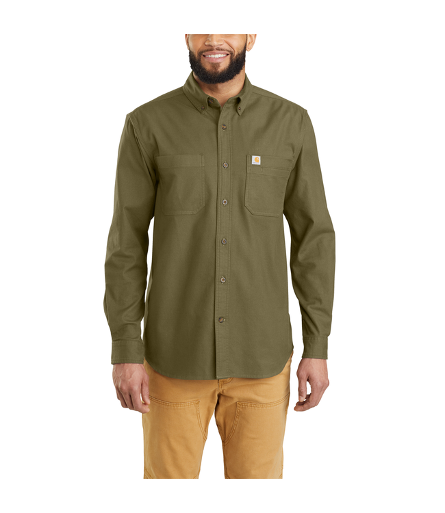 Carhartt Shirt Long Sleeve Solid Hamilton Rugged Flex 103870