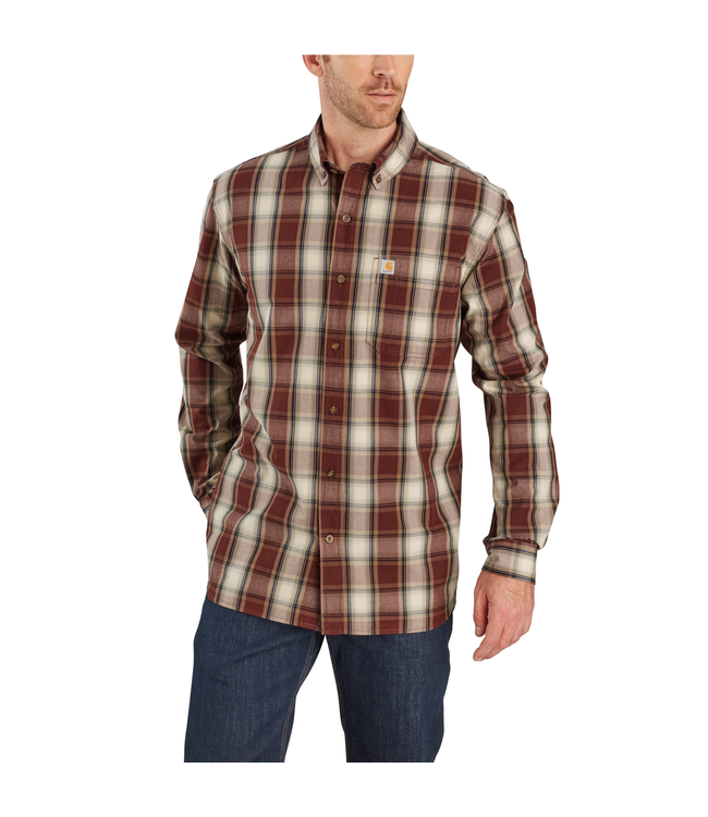 Carhartt Shirt Long-Sleeve Button Down Essential Plaid 103899