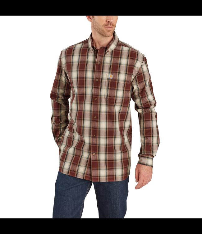 Carhartt Shirt Long-Sleeve Button Down Essential Plaid 103899