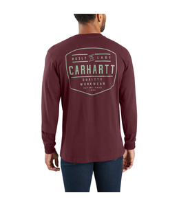 Carhartt T-Shirt Pocket Long-Sleeve Built By Hand Graphic Workwear 103840