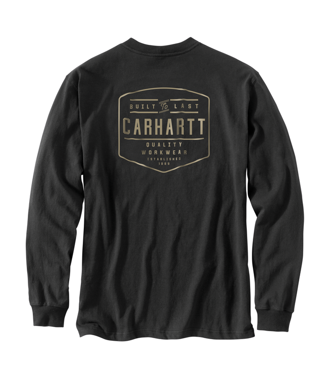 Carhartt T-Shirt Pocket Long-Sleeve Built By Hand Graphic Workwear 103840
