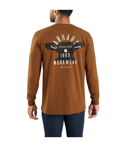 Carhartt T-Shirt Pocket Long-Sleeve Graphic Hamilton Signature Workwear 103843